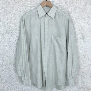 Canali Italian Dress Shirt Ivory Check